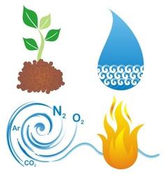 Symbols of four elements vector