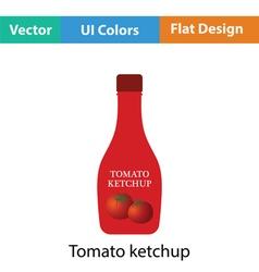 Tomato ketchup icon vector image