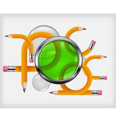 transformed pencils vector image vector image