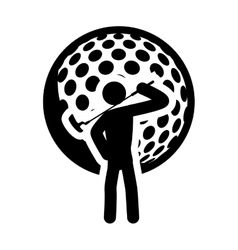 Ball golf sport design vector