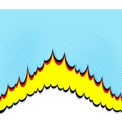 Boom Comic book explosion background vector image