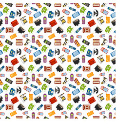 Telephones icons sealess pattern vector