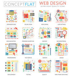 Infographics mini concept web design icons and vector