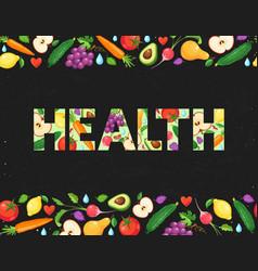 Health word poster vector