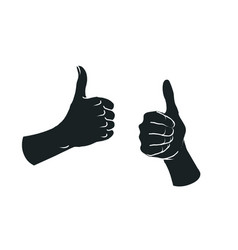 Gesture like sign two female hands with thumbs vector