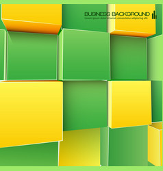 Abstract cubes background for business vector