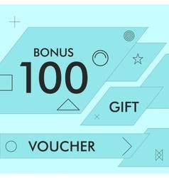 Gift voucher triangular abstract background vector