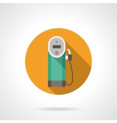 Color button for gas station flat icon vector