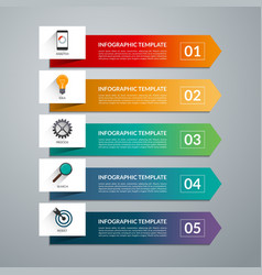 Infographic arrow template 5 options vector