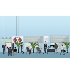 Flat design of business people or workers office vector