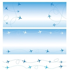 Air travel vector image