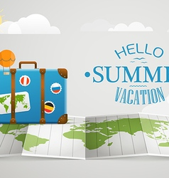 Travel bag vacation concept with the bag vector