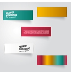 abstract background Label color vector image vector image
