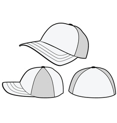 baseball hat or cap template vector image vector image