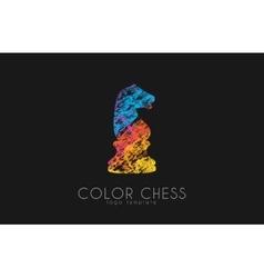 Chess horse ogo Chess logo Horse logo Creative vector image