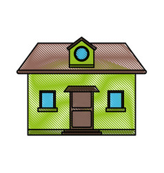 classic family house or home icon image vector image