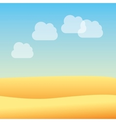 desert landscape beautiful icon vector image