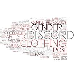 Discord word cloud concept vector