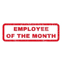 Employee of the month rubber stamp vector