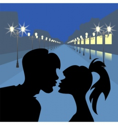evening lovers vector image vector image
