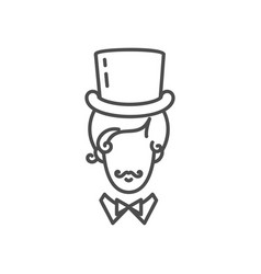 Gentleman icon elegant man in a tall hat with a vector