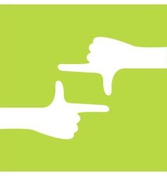 Hand camera gesture vector