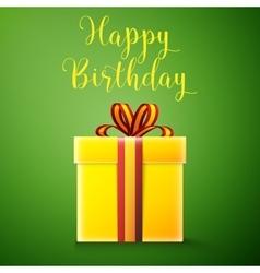 Happy birthday gift box vector image vector image