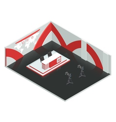 News Room Isometric Interior vector image vector image