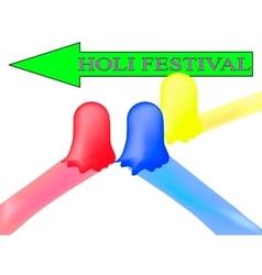 Paint go to the holi festival vector