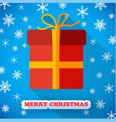 present box postcard vector image