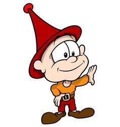 Red little elf vector