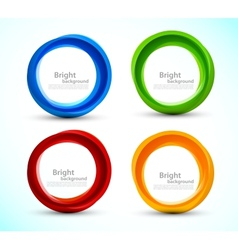 Set of colorful circles vector image vector image