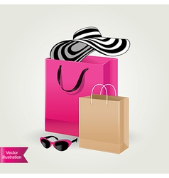 Shopping bags isolated vector