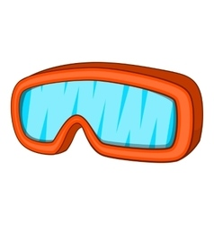Ski sport goggles icon cartoon style vector image