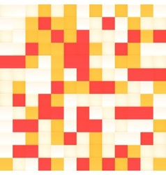 White and orange mosaic seamless pattern vector image vector image