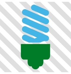 Fluorescent bulb icon vector