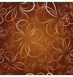 Decorative wallpaper with butterfly vector
