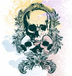 Money skull illustration vector