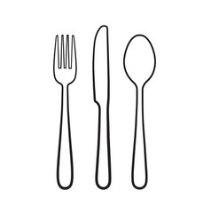 Fork spoon knife icon sign symbol vector