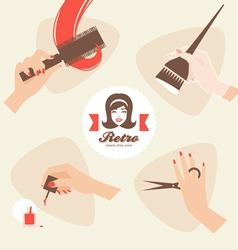 Beauty shop icons vector