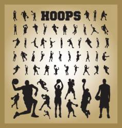 hoops vector image