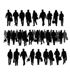 Silhouettes of people vector