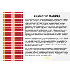 Fire crackers for chinese new year vector