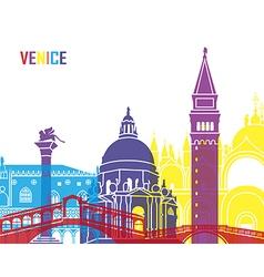 Venice skyline pop vector image