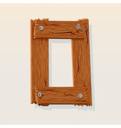 Wooden letter o vector