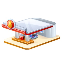 Gasoline station vector