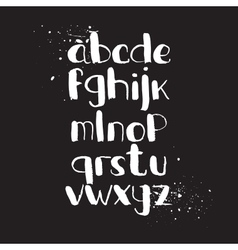 Hand-drawn alphabet brush vector