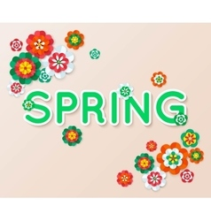 Spring multicolored cutout paper flowers spring vector