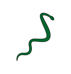 asclepius aesculapius reptile snake care symbol vector image vector image