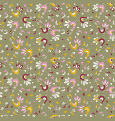 Bird pattern grouse and fig vector